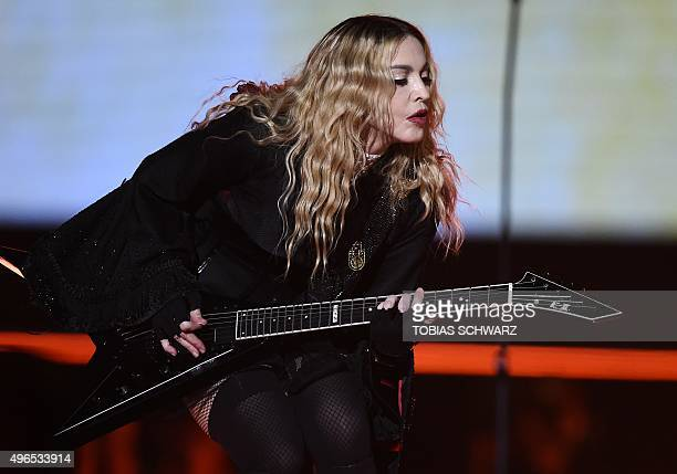 US singer Madonna performs on stage during her 'Rebel Heart' tour in Berlin on November 10 2015 AFP PHOTO / TOBIAS SCHWARZ