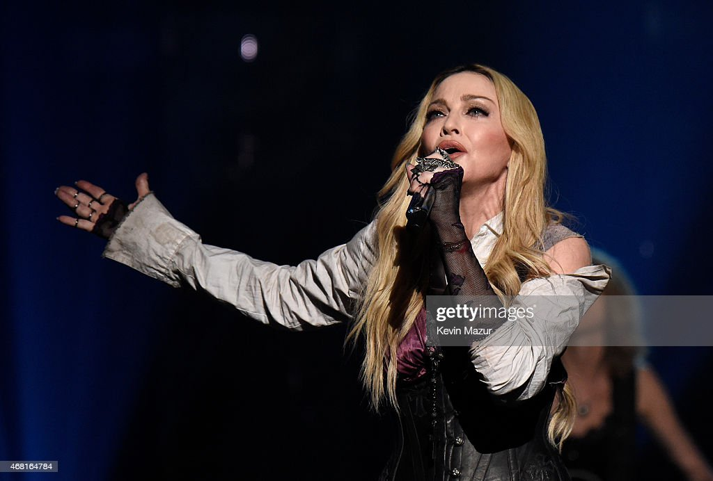Singer Madonna performs onstage during the 2015 iHeartRadio Music Awards which broadcasted live on NBC from The Shrine Auditorium on March 29, 2015 in Los Angeles, California.