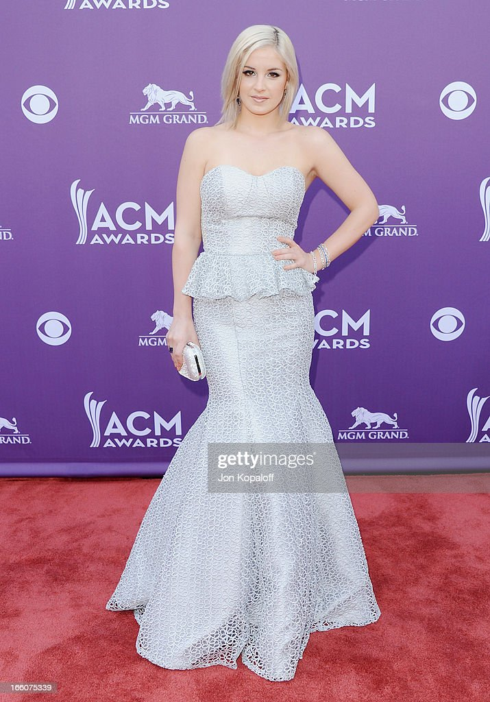 Singer Maggie Rose arrives at the 48th Annual Academy Of Country Music Awards at MGM Grand Garden Arena on April 7, 2013 in Las Vegas, Nevada.