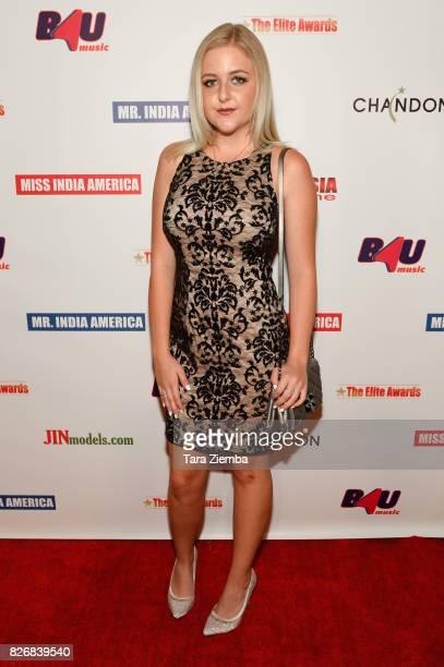 Singer Mahkenna Tyson attends the Elite Awards ceremony charity gala for Jagrit at Renaissance Los Angeles Airport Hotel on August 5 2017 in Los...