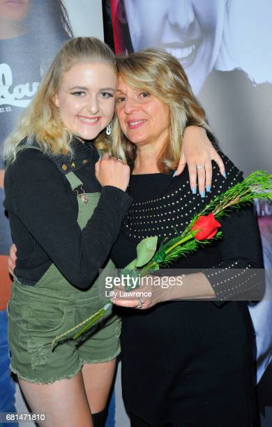 Singer Mahkenna with her grandmother at Mother's Day Night Out Concert at Surf City Nights on May 9 2017 in Huntington Beach California