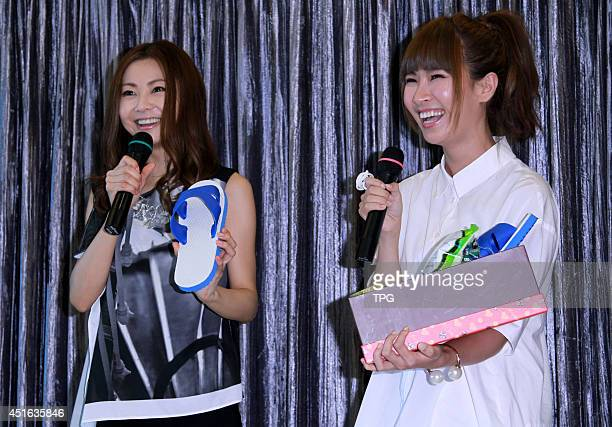 Singer Mai Kuraki attends a press conference on on Wednesday July 22014 in TaipeiChina