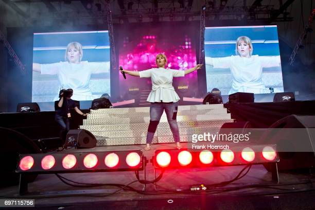 Singer Maite Kelly performs live during the show 'Die Schlagernacht des Jahres' at the Waldbuehne on June 17 2017 in Berlin Germany