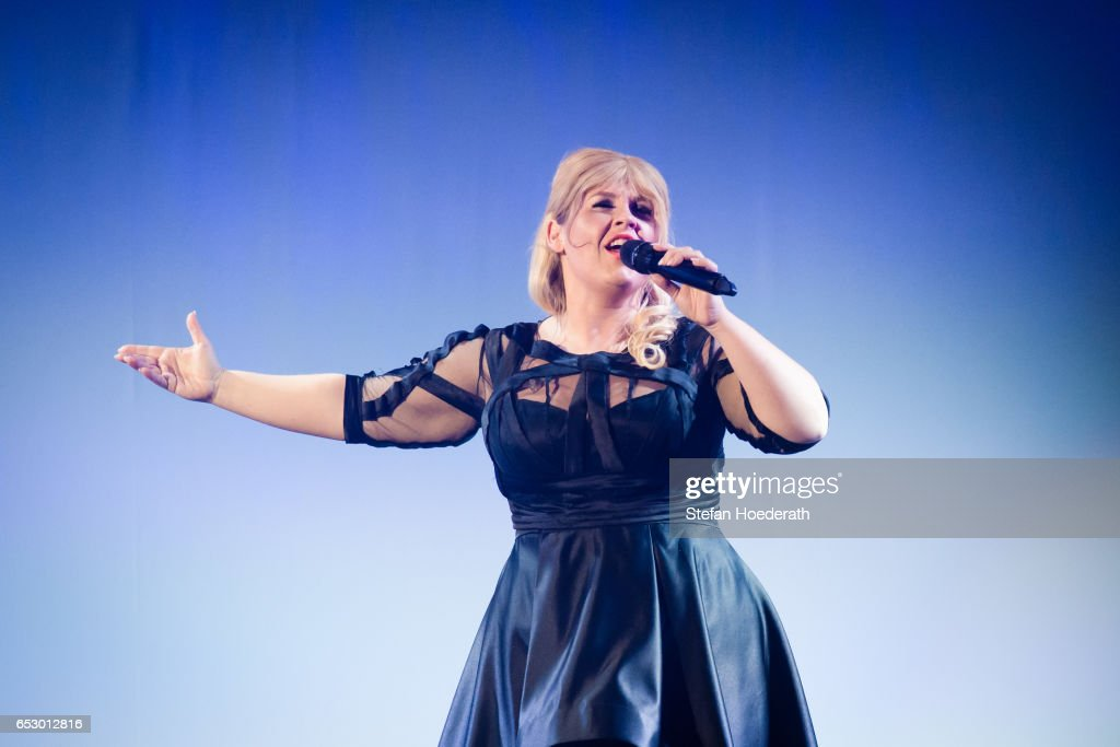 Singer Maite Kelly performs live on stage during a concert at Friedrichstadtpalast on March 13, 2017 in Berlin, Germany.