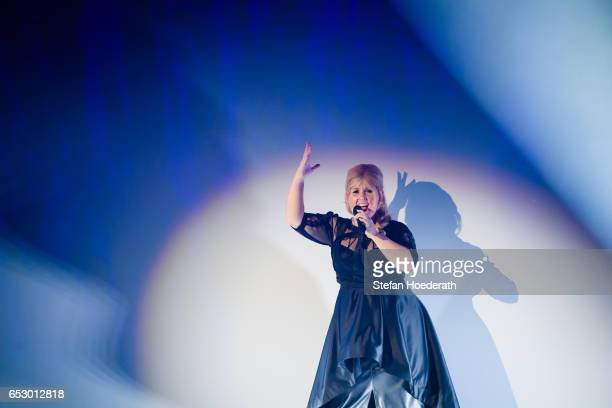 Singer Maite Kelly performs live on stage during a concert at Friedrichstadtpalast on March 13 2017 in Berlin Germany