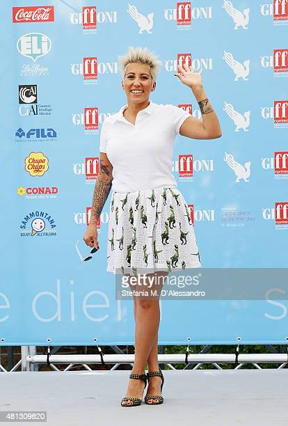 Singer Malika Ayane attends Giffoni Film Festival 2015 photocall on July 19 2015 in Giffoni Valle Piana Italy