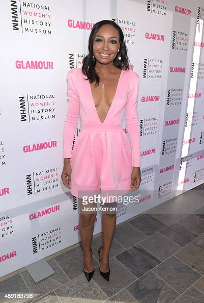 Singer Malina Moye attends the 4th Annual Women Making History Brunch presented by the National Women's History Museum and Glamour Magazine at...