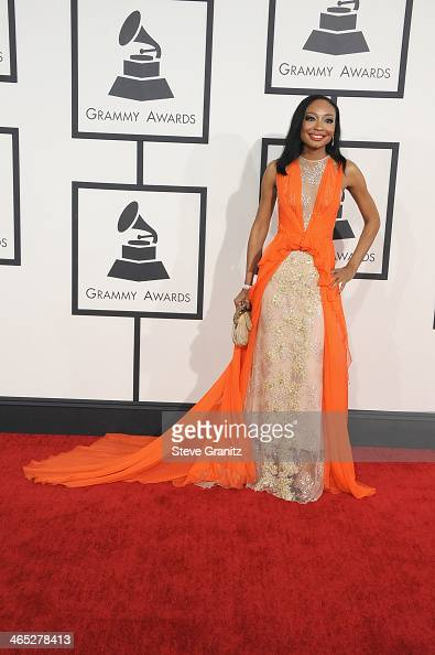 Singer Malina Moye attends the 56th GRAMMY Awards at Staples Center on January 26 2014 in Los Angeles California