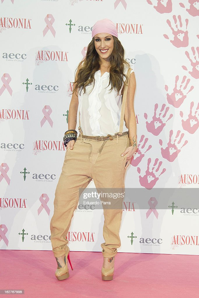 Singer Malu attends 'Juntos Somos Mas Fuertes' campaign photocall against breast cancer on February 26, 2013 in Madrid, Spain.