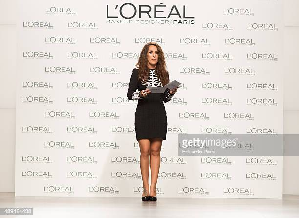 Singer Malu attends the L'Oreal award photocall during MercedesBenz Fashion Week Madrid Spring/Summer 2016 at IFEMA on September 21 2015 in Madrid...