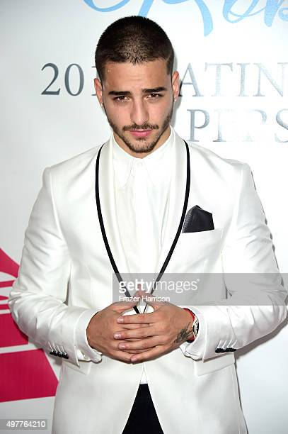 Singer Maluma attends the 2015 Latin GRAMMY Person of the Year honoring Roberto Carlos at the Mandalay Bay Events Center on November 18 2015 in Las...