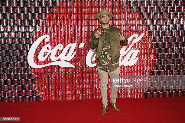 Singer Maluma attends the new Coca Cola campaing launch at Foro Masaryk on July 27 2016 in Mexico City Mexico