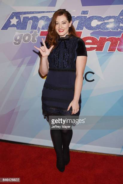 Singer Mandy Harvey arrives at the NBC's 'America's Got Talent' Season 12 Live Show at the Dolby Theatre on September 12 2017 in Hollywood California