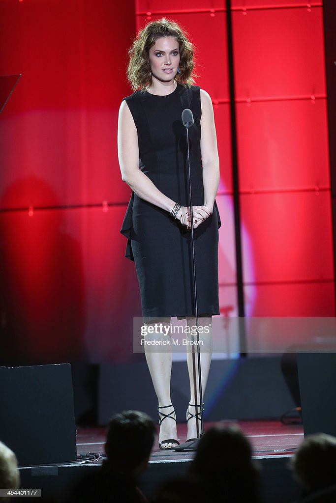 Singer Mandy Moore speaks onstage at 'TrevorLIVE LA' honoring Jane Lynch and Toyota for the Trevor Project at Hollywood Palladium on December 8, 2013 in Hollywood, California.