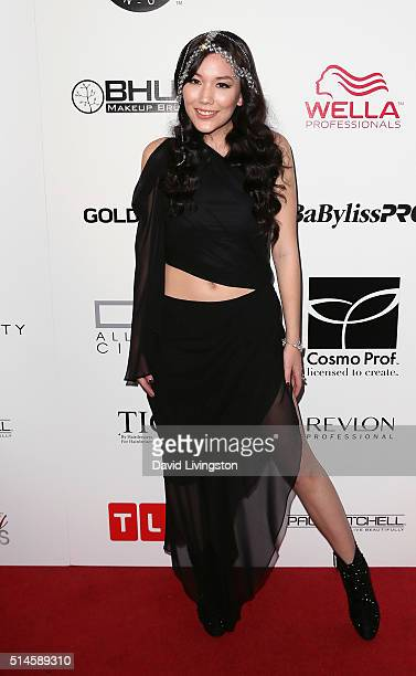 Singer Manika attends the preview event of TLC Network's 'Global Beauty Masters' Season 2 at Christopher Guy West Hollywood Showroom on March 9 2016...