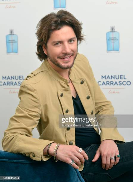 Singer Manu Carrasco presents his the fragance 'Libre' on February 28 2017 in Madrid Spain