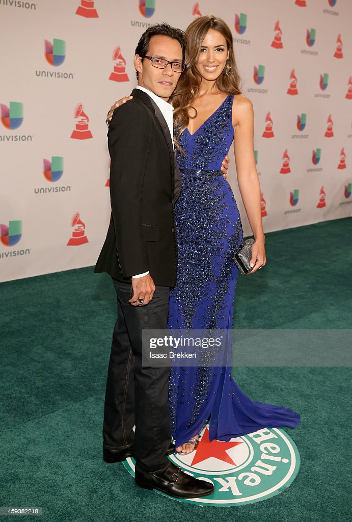 Singer Marc Anthony and model Shannon De Lima attend the 15th annual Latin GRAMMY Awards at the MGM Grand Garden Arena on November 20 2014 in Las...
