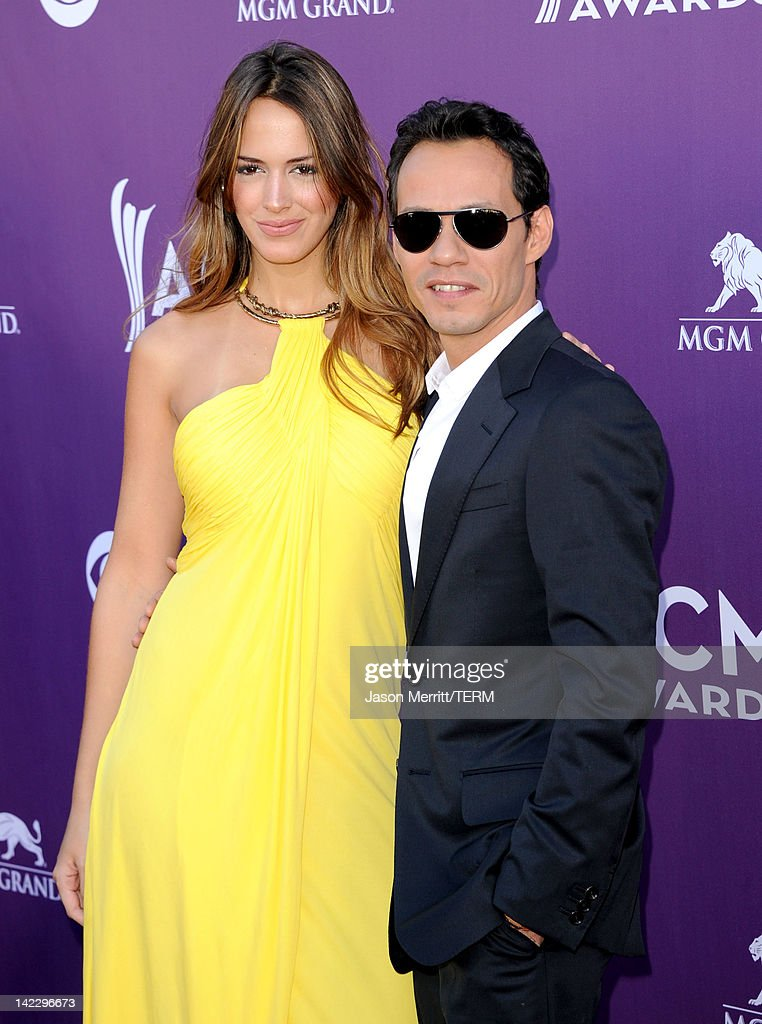 Singer Marc Anthony and Shannon de Lima arrive at the 47th Annual Academy Of Country Music Awards held at the MGM Grand Garden Arena on April 1 2012...