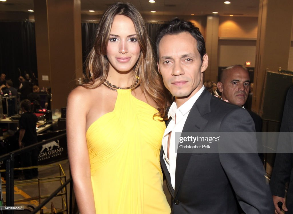 Singer Marc Anthony (R) and Shannon de Lima attend the 47th Annual Academy Of Country Music Awards held at the MGM Grand Garden Arena on April 1, 2012 in Las Vegas, Nevada.