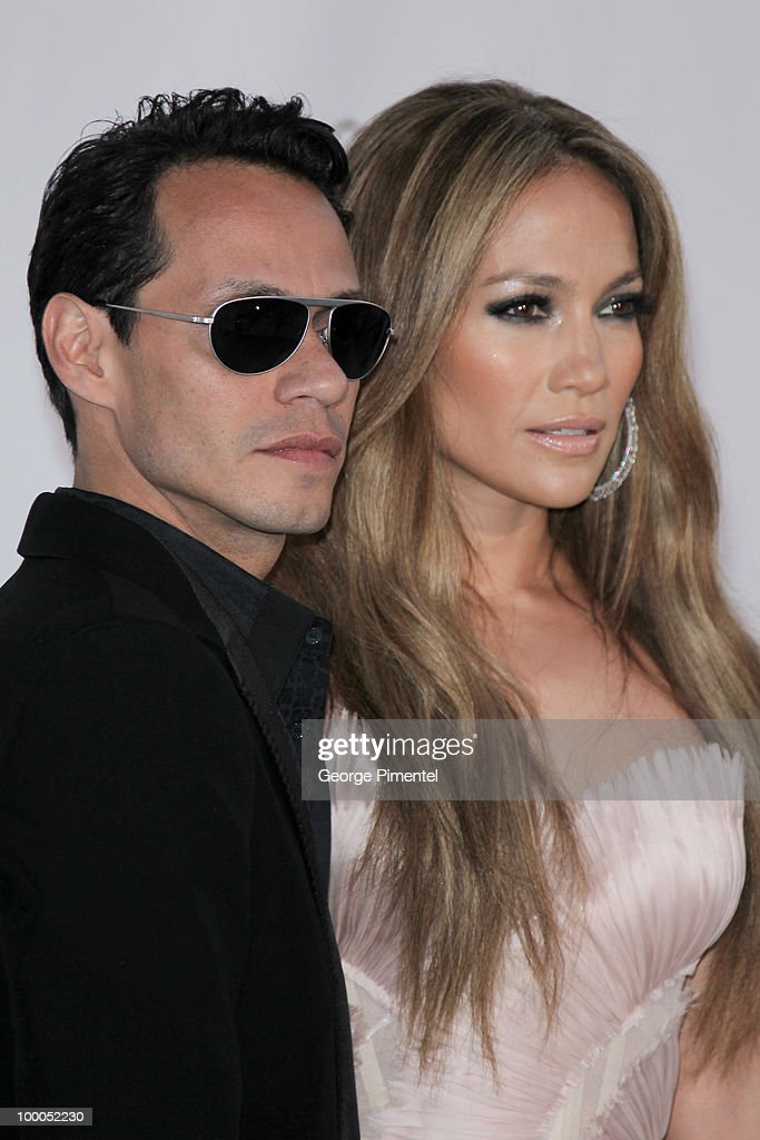 Singer Marc Anthony and singer/actress Jennifer Lopez attend amfAR's Cinema Against AIDS Gala at the Hotel Du Cap during the 63rd International Cannes Film Festival on May 20, 2010 in Antibes, France.