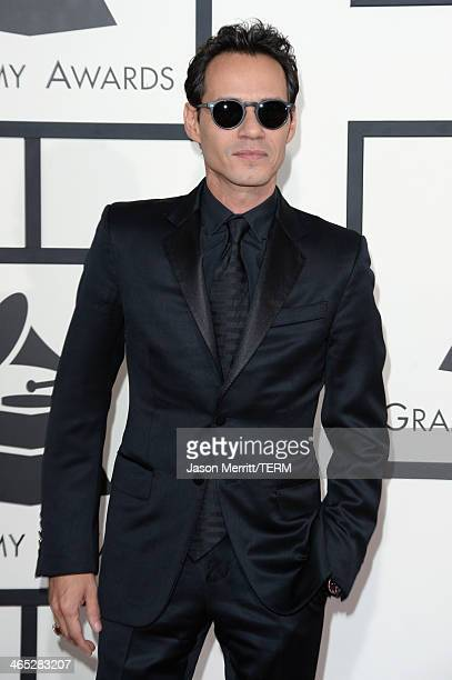 Singer Marc Anthony attends the 56th GRAMMY Awards at Staples Center on January 26 2014 in Los Angeles California