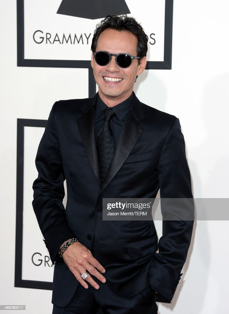 Singer <a gi-track='captionPersonalityLinkClicked' href=/galleries/search?phrase=Marc+Anthony&family=editorial&specificpeople=202544 ng-click='$event.stopPropagation()'>Marc Anthony</a> attends the 56th GRAMMY Awards at Staples Center on January 26, 2014 in Los Angeles, California.
