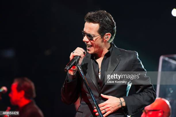 Singer Marc Anthony performs at Barclays Center on February 15 2014 in the Brooklyn borough of New York City