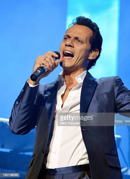 Singer Marc Anthony performs at Izod Center on August 10 2012 in East Rutherford New Jersey