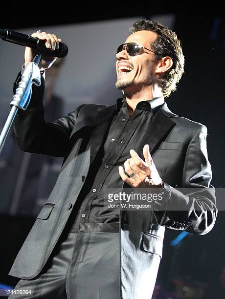 Singer Marc Anthony performs at the Izod Center on September 9 2011 in East Rutherford New Jersey