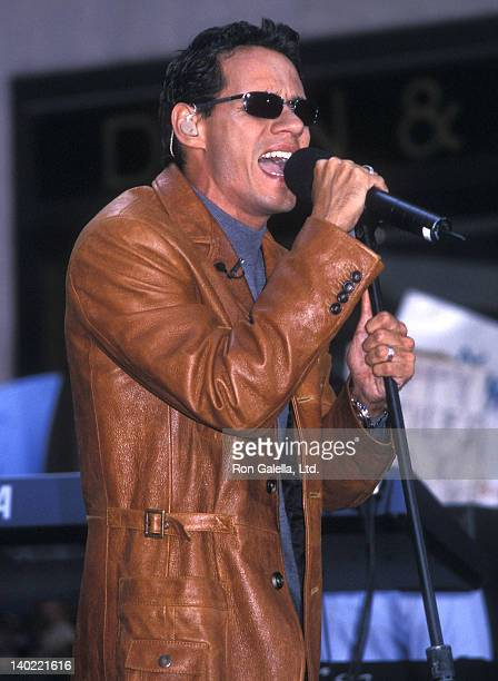 Singer Marc Anthony performs during the 'Summer Concert Series' of 'The Today Show' on May 10 2002 at Rockefeller Center in New York City