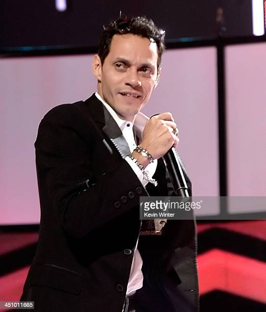 Singer Marc Anthony performs onstage during rehearsals for the 14th annual Latin GRAMMY Awards at the Mandalay Bay Events Center on November 20 2013...