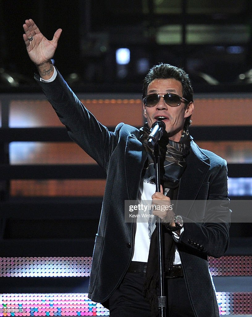 Singer Marc Anthony performs onstage during the 11th annual Latin GRAMMY Awards at the Mandalay Bay Events Center on November 11 2010 in Las Vegas...