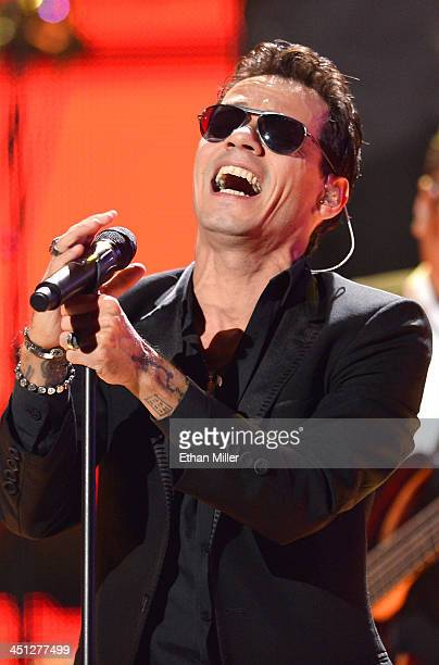 Singer Marc Anthony performs onstage during the 14th Annual Latin GRAMMY Awards held at the Mandalay Bay Events Center on November 21 2013 in Las...