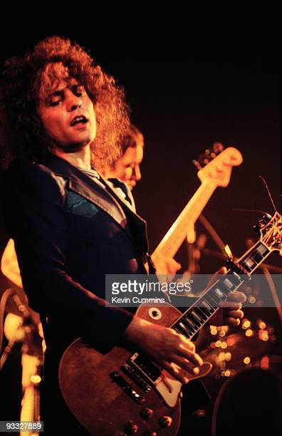 Singer Marc Bolan of TRex performs on stage at the Free Trade Hall in Manchester in February 1976