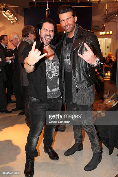 Singer Marc Terenzi and Jay Khan during the Pre Opening Event Exhibition Insights by Mayk Azzato presented by KARE Kraftwerk on February 26 2015 in...