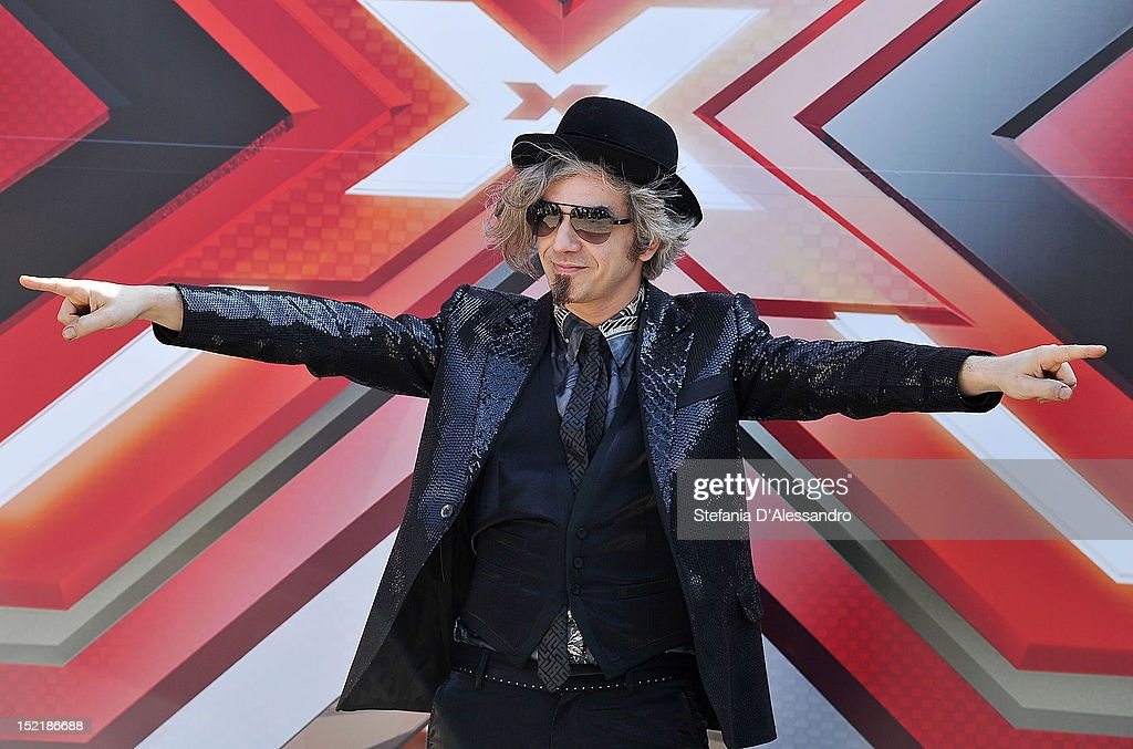 Singer Marco Castoldi known as Morgan attends X Factor 2012 Press Conference on September 17, 2012 in Milan, Italy.