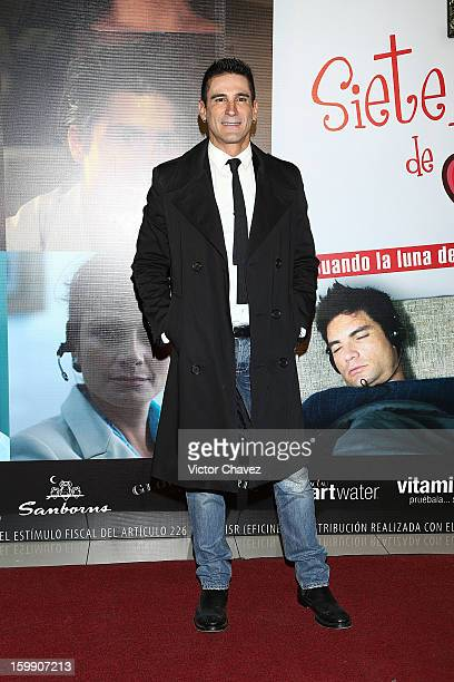 Singer Marco di Mauro attends the '7 Anos de Matrimonio' Mexico City premiere red carpet at Plaza Carso on January 22 2013 in Mexico City Mexico
