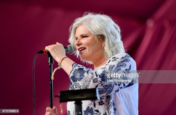 Singer Margo Timmins of Cowboy Junkies performs on the Mustang stage during day 3 of 2017 Stagecoach California's Country Music Festival at the...