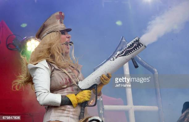 Singer Maria Brink of In This Moment performs during Carolina Rebellion at Charlotte Motor Speedway on May 6 2017 in Charlotte North Carolina