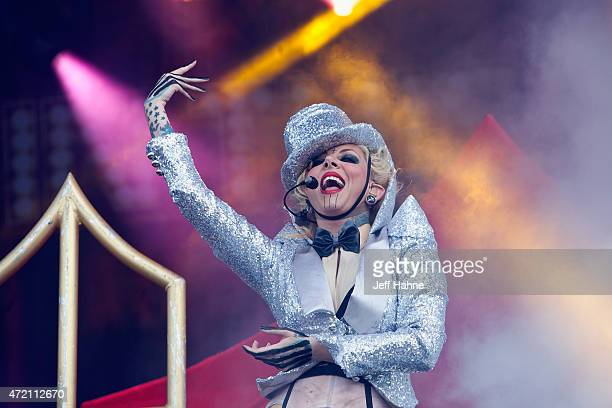 Singer Maria Brink of In This Moment performs during day 2 of the Carolina Rebellion at Charlotte Motor Speedway on May 3 2015 in Charlotte North...