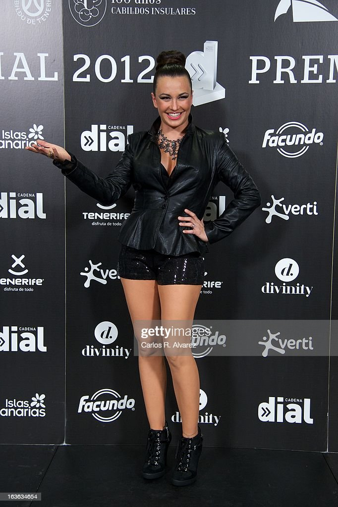 Singer Maria Jose 'La Josa' attends Cadena Dial awards 2013 press room at the Adan Martin auditorium on March 13, 2013 in Tenerife, Spain.