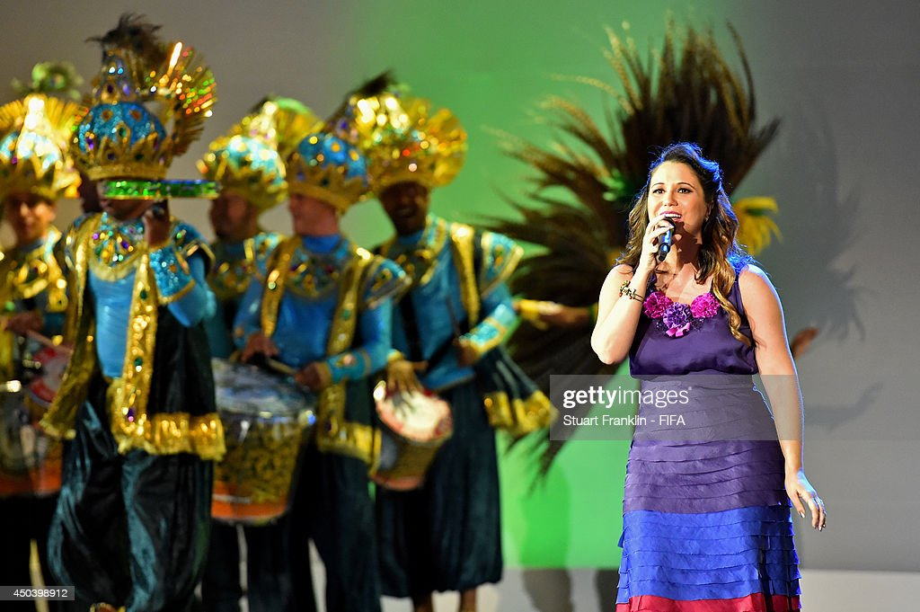 Singer <a gi-track='captionPersonalityLinkClicked' href=/galleries/search?phrase=Maria+Rita&family=editorial&specificpeople=2083259 ng-click='$event.stopPropagation()'>Maria Rita</a> performs during the Opening Ceremony of the 64th FIFA Congress at the Transamerica Expo Center on June 10, 2014 in Sao Paulo, Brazil.
