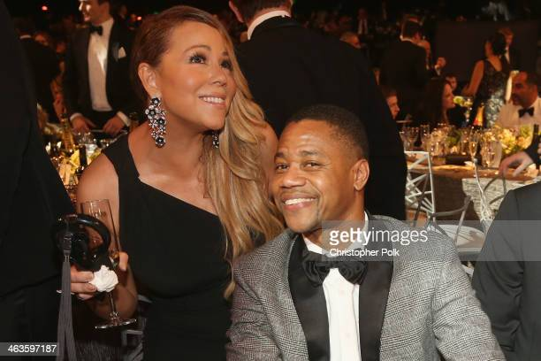 Singer Mariah Carey and actor Cuba Gooding Jr attend 20th Annual Screen Actors Guild Awards at The Shrine Auditorium on January 18 2014 in Los...