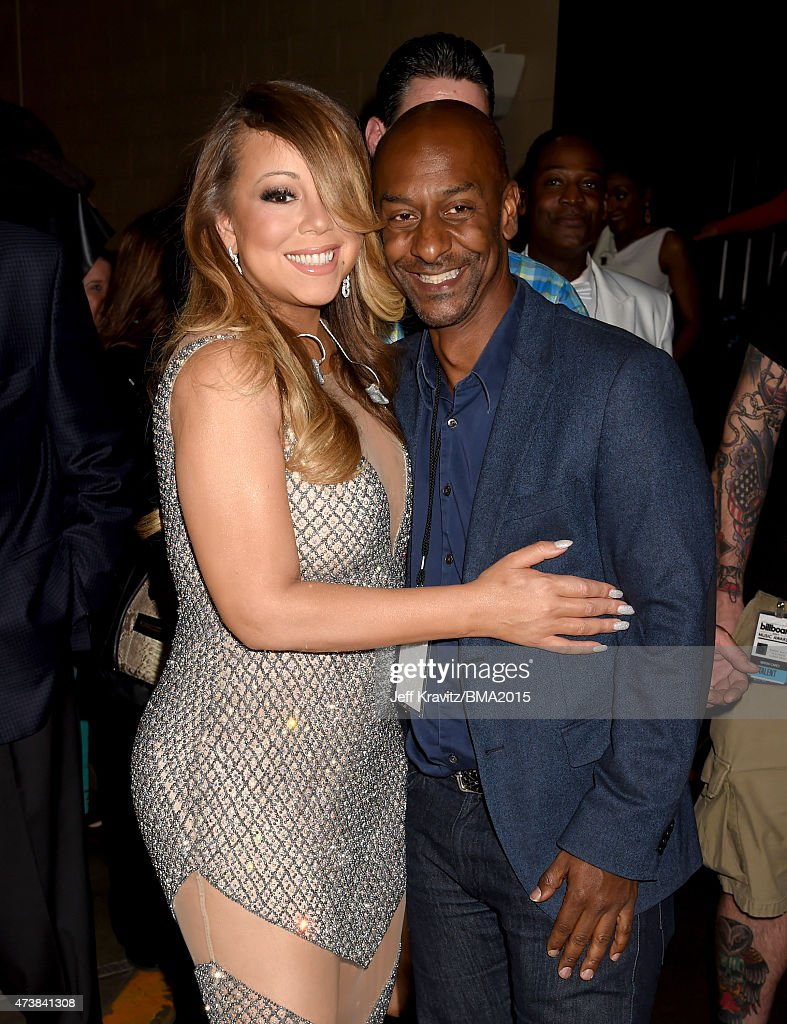 Singer Mariah Carey and BET President of Programming Stephen Hill attend the 2015 Billboard Music Awards at MGM Grand Garden Arena on May 17 2015 in...