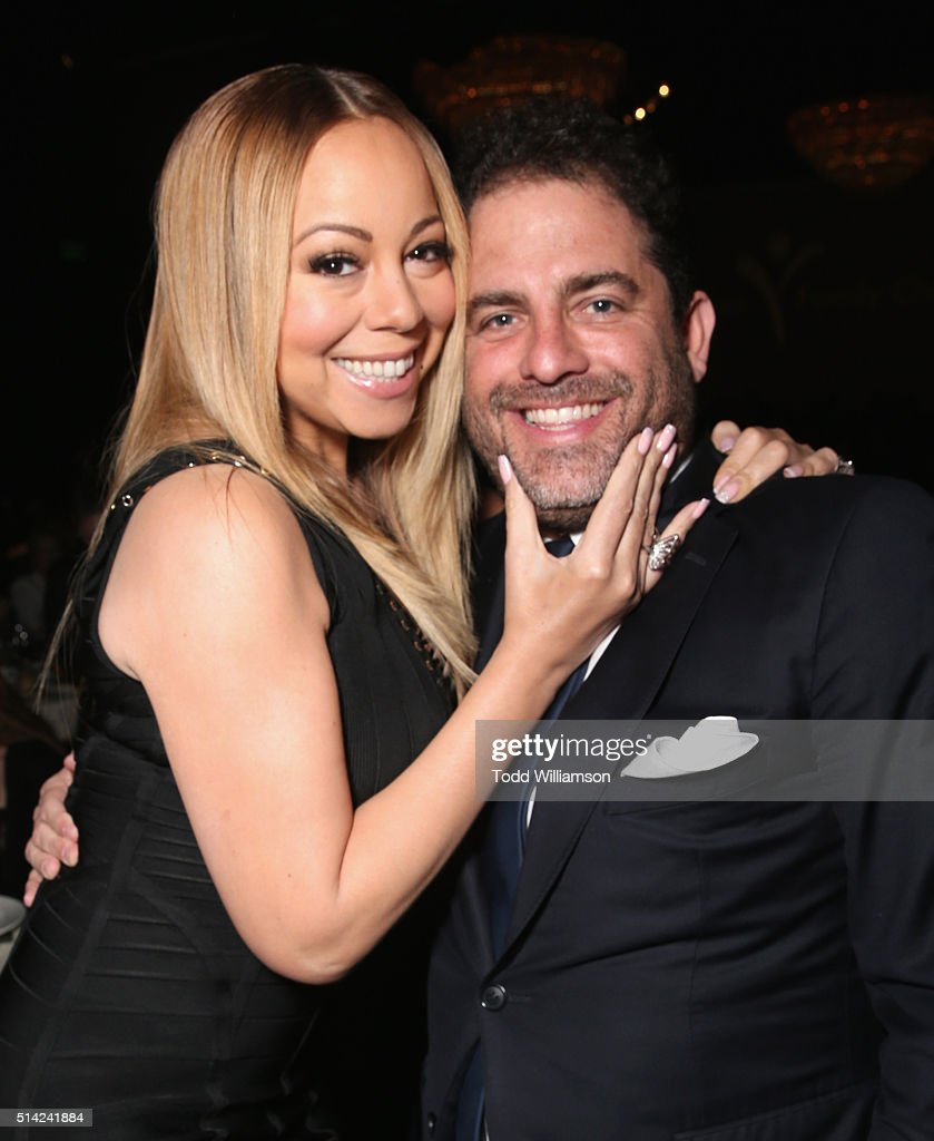 Singer Mariah Carey and honoree Brett Ratner attends the Venice Family Clinic Silver Circle Gala 2016 honoring Brett Ratner and Bill Flumenbaum at The Beverly Hilton Hotel on March 7, 2016 in Beverly Hills, California.