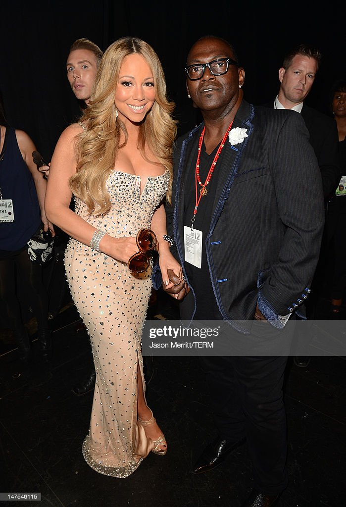 Singer <a gi-track='captionPersonalityLinkClicked' href=/galleries/search?phrase=Mariah+Carey&family=editorial&specificpeople=171647 ng-click='$event.stopPropagation()'>Mariah Carey</a> and Musician Randy Jackson attend the 2012 BET Awards at The Shrine Auditorium on July 1, 2012 in Los Angeles, California.