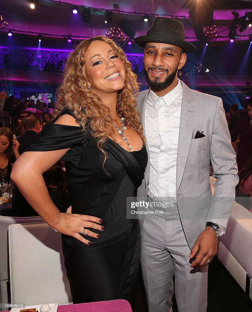 Singer <a gi-track='captionPersonalityLinkClicked' href=/galleries/search?phrase=Mariah+Carey&family=editorial&specificpeople=171647 ng-click='$event.stopPropagation()'>Mariah Carey</a> and recording artist <a gi-track='captionPersonalityLinkClicked' href=/galleries/search?phrase=Swizz+Beatz&family=editorial&specificpeople=567154 ng-click='$event.stopPropagation()'>Swizz Beatz</a> attend Nickelodeon's 2012 TeenNick HALO Awards at Hollywood Palladium on November 17, 2012 in Hollywood, California. The show premieres on Monday, November 19th, 8:00p.m. (ET) on Nick at Nite.