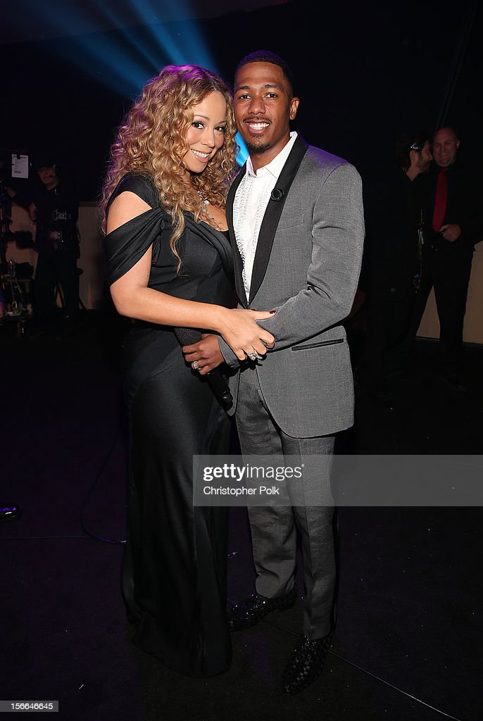 Singer <a gi-track='captionPersonalityLinkClicked' href=/galleries/search?phrase=Mariah+Carey&family=editorial&specificpeople=171647 ng-click='$event.stopPropagation()'>Mariah Carey</a> and TeenNick Chairman and HALO Awards host <a gi-track='captionPersonalityLinkClicked' href=/galleries/search?phrase=Nick+Cannon&family=editorial&specificpeople=202208 ng-click='$event.stopPropagation()'>Nick Cannon</a> attend Nickelodeon's 2012 TeenNick HALO Awards at Hollywood Palladium on November 17, 2012 in Hollywood, California. The show premieres on Monday, November 19th, 8:00p.m. (ET) on Nick at Nite.