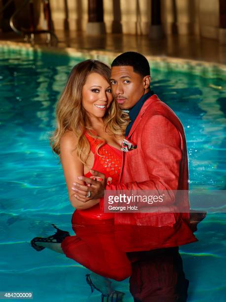 Singer Mariah Carey and TV host Nick Cannon are photographed for Ebony Magazine on November 2 2013 in New York City COVER IMAGE