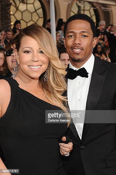 Singer Mariah Carey and tv personality Nick Cannon attend 20th Annual Screen Actors Guild Awards at The Shrine Auditorium on January 18 2014 in Los...